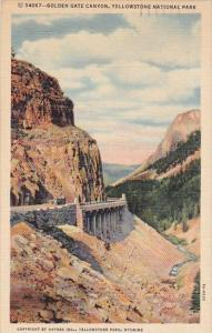 Wyoming Yellowstone National Park Golden Gate Canyon 1946