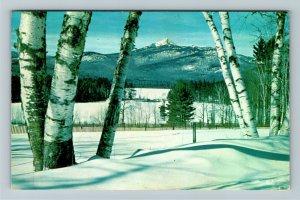 White Mt. NH- New Hampshire, Mt Chocorua, Lake Chocorua, Chrome c1959Postcard