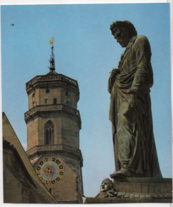 Post Card Stuttgart Germany  Schiller Memorial & Collegiate
