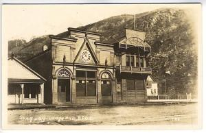 Sgagway Elks B.P.O.E. Lodge #431 Early View RPPC Real Photo Postcard