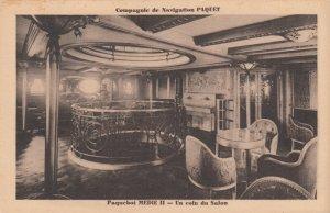 Ocean Liner MEDIE IIE , 1910-30s ; Un coin du Salon