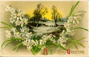 Greeting - Birthday. Embossed, Gold Foil (Winsch)