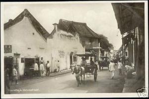 indonesia JAVA SOERABAIA Venusstraat Horse Cart RP 1928