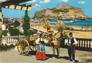 Sicilian cart. Horse. Scene Nice modern Italian PC. Continental  size