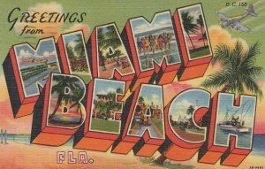 Large Letter MIAMI BEACH , Florida , 1957