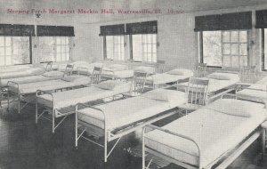 WARRENVILLE , Illinois, 1900-10s ; Sleeping Porch, Margaret Mackin Hall