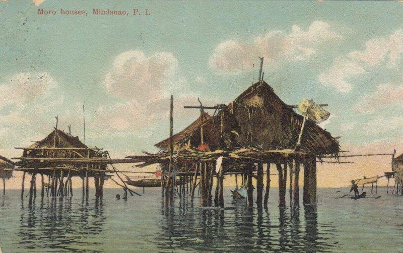 MINDANAO , Philippines , 1911 ; Moro Houses