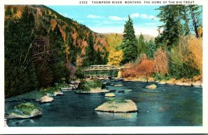 Montana Thompson River Home Of The Big Trout Curteich