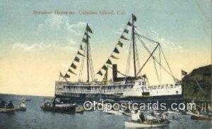 Steamer Hermosa, Catalina Island, CA, CA USA Steam Ship 1919 light crease, co...