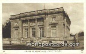 Petit Trianon Palais De Versailles, France, Carte, Unused