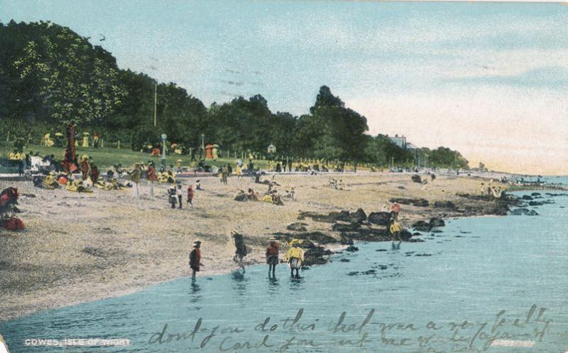 Beach at Cowes, Isle of Wight - England - United Kingdom - pm 1909 - DB