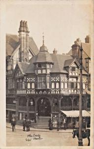 CHESTER UK~WATERGATE STREET-THE CROSS-RP PHOTO POSTCARD 1910s