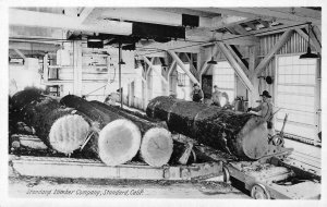 RPPC STANDARD LUMBER COMPANY, CA Tuolumne c1910s Logging Photo Vintage Postcard