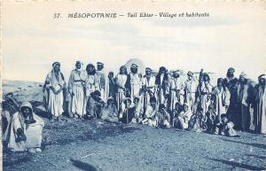 B84844 mesopotamie tell ebiar village et habitants  types folklore iraq