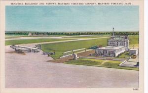 Massachusetts Marthas Vineyard Terminal Buildings and Runway Marthas Vineyard...