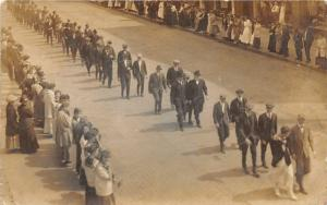 F15/ Parade Real Photo RPPC Postcard c1910 Men in Suits 5