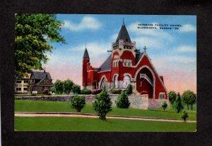 KS VA Veterans Administration Chapel Wadsworth Kansas Postcard Linen