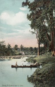 DOVER , N.H. , 1900-10s ; Canoe at Whitcher's Falls