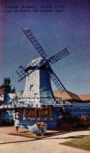 California Los Angeles Van De Kamp's Typical Windmill Bakery Store 1950