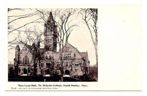 MA - South Hadley. Mt Holyoke College, Mary Lyon Hall