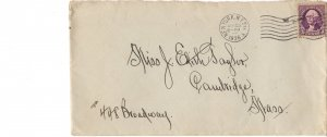 Cover, New York to Cambridge,  3 Cent Used 1938