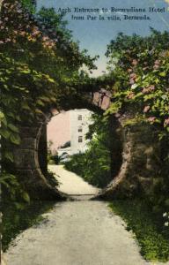 bermuda, Arch Entrance to Bermudiana Hotel from Par la Ville (1930)