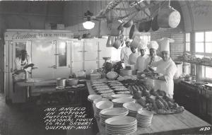 E47/ Gulfport Mississippi Photo RPPC Postcard c40s Interior Mr. Angelo's Place