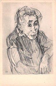 Artist Oskar Kokoschka Artist Oskar Kokoschka Wiener Werkstaette Unused