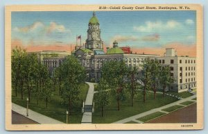 Postcard WV Huntington West Virginia Cabell County Courthouse 1945 C41