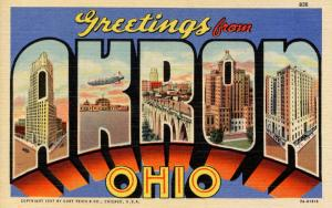 Large Letter - Akron, Ohio