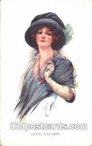 Good-Natured Artist Signed Court Barber 1915 some corner wear, postal used