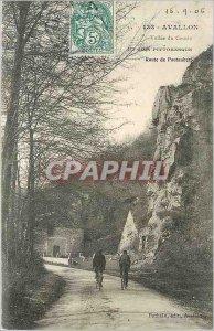 Old Postcard Avallon Vallee du Cousin A picturesque corner