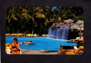 Mexico Alberca Principal Del Hotel Acapulco Princess Postcard Mexican