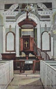 South Carolina Charleston Interior Old Goose Creek Church Episcopal Built 1613