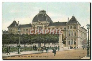 Old Postcard Lyon the Faculty of Law and Letters