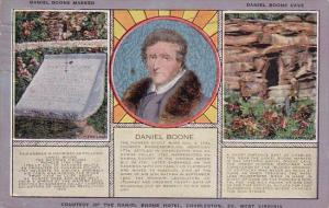 West Virginia Charleston Daniel Boone Marker Daniel Boone Cave Courtesy Of Th...