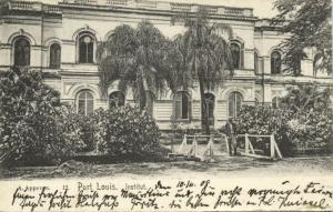 mauritius maurice, PORT LOUIS, Institut (1909)