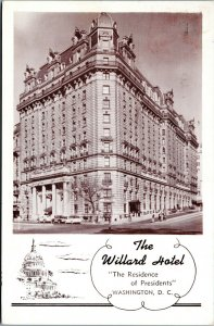 postcard - The Willard Hotel, Washington, D.C.- cancel Earn Learn Serve Women
