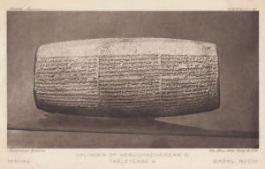 Cylinder Of Nebuchadnezzar II 2nd Neo Babylonian Antique Postcard
