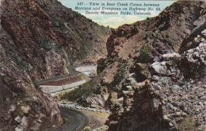 Colorado Denver Mountain Parks View In Bear Creek Canon Between Morrison & Ev...