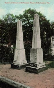 Postcard Tombs of Prince and Princess Murat Tallahassee Florida
