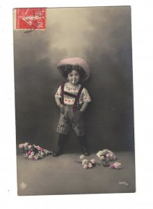 HI1039  NAUGHTY LITTLE BOY SMOKING A CIGARETTTE  TOBACCO RPPC