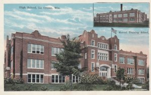 LACROSSE, WI , 10s-20s; 2-Views, Central High School & Manual Training School