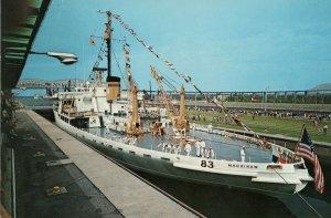 Jumbo Postcard Sault St Maine Mackinaw PC9 45