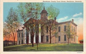 C43/ Henderson Kentucky Ky Postcard c1930 Henderson County Court House