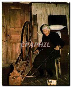 Postcard Modern Cevennes Fileuse before her wheel Folklore