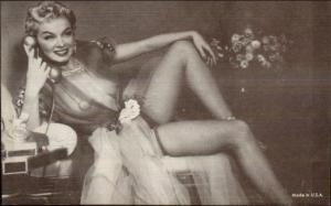 Sexy Pin-Up Woman Semi Nude Arcade Exhibit Card c1920s-30s #18