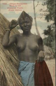 Africa Occidental Timbo Fouta Djallon Native Nude Woman Senegal Used PC