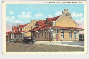 PPC POSTCARD MONTANA BILLINGS NORTHERN PACIFIC & UNION DEPOT EXTERIOR VIEW
