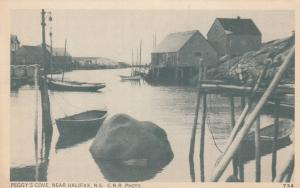 NOVA SCOTIA, Canada, 1930s; Waterside View of Peggy´s Cove